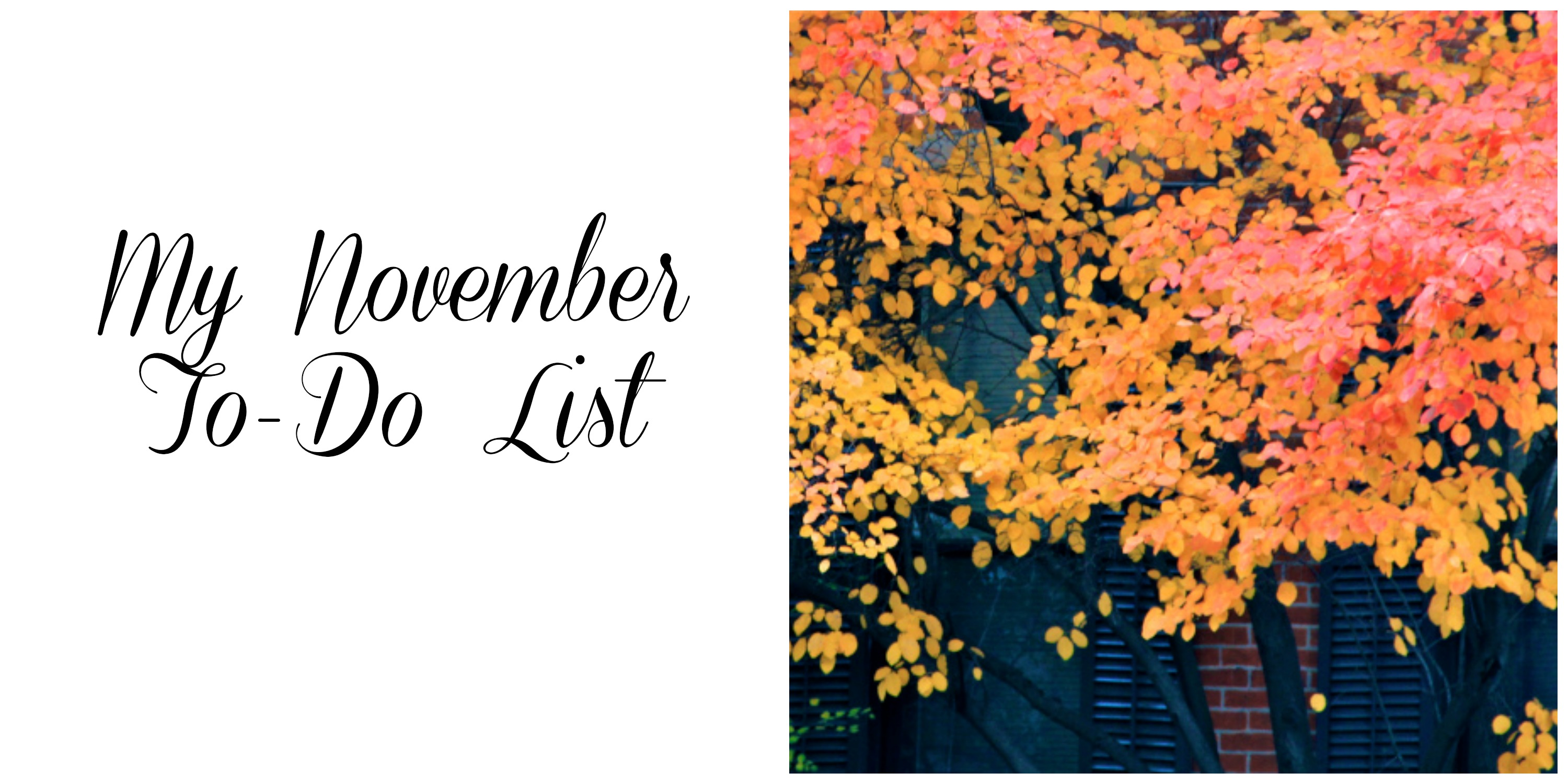 November To Do List | girl about columbus
