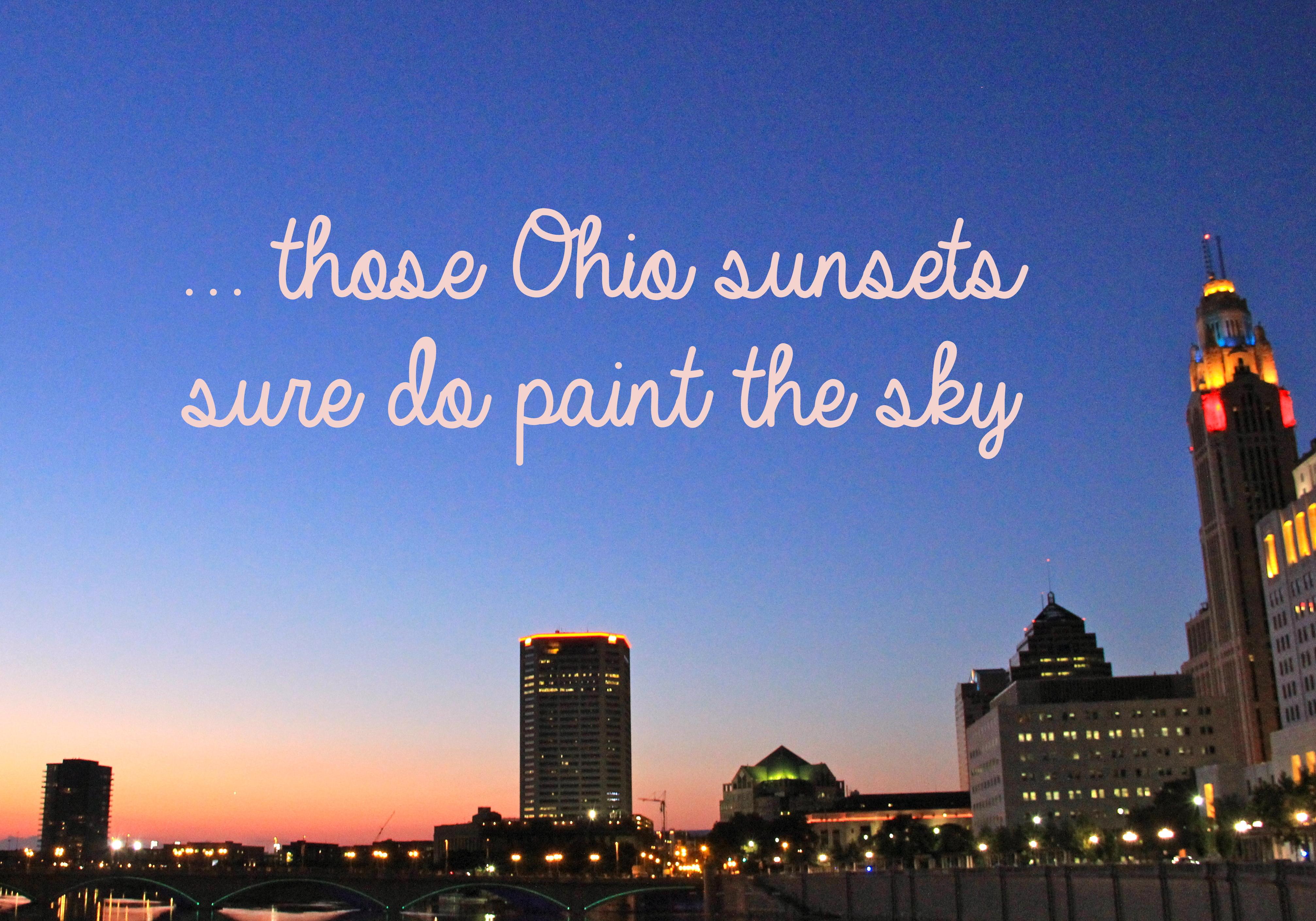 Ohio Sunset | girl about columbus