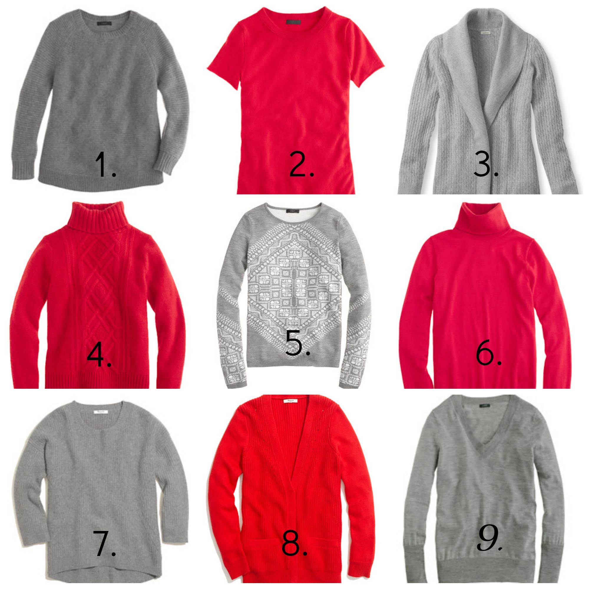 Scarlet and Gray Sweaters | girl about columbus