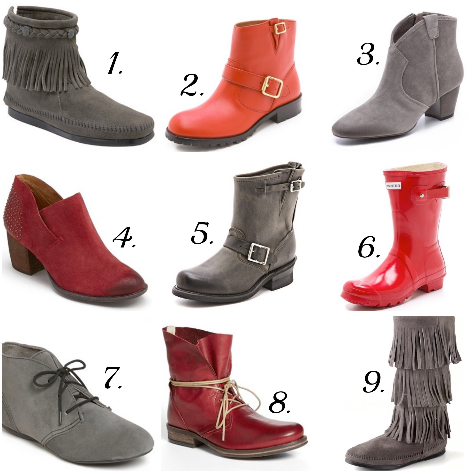 Scarlet and Gray Boots | girl about columbus
