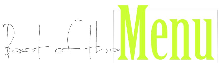 Best of the Menu Blog