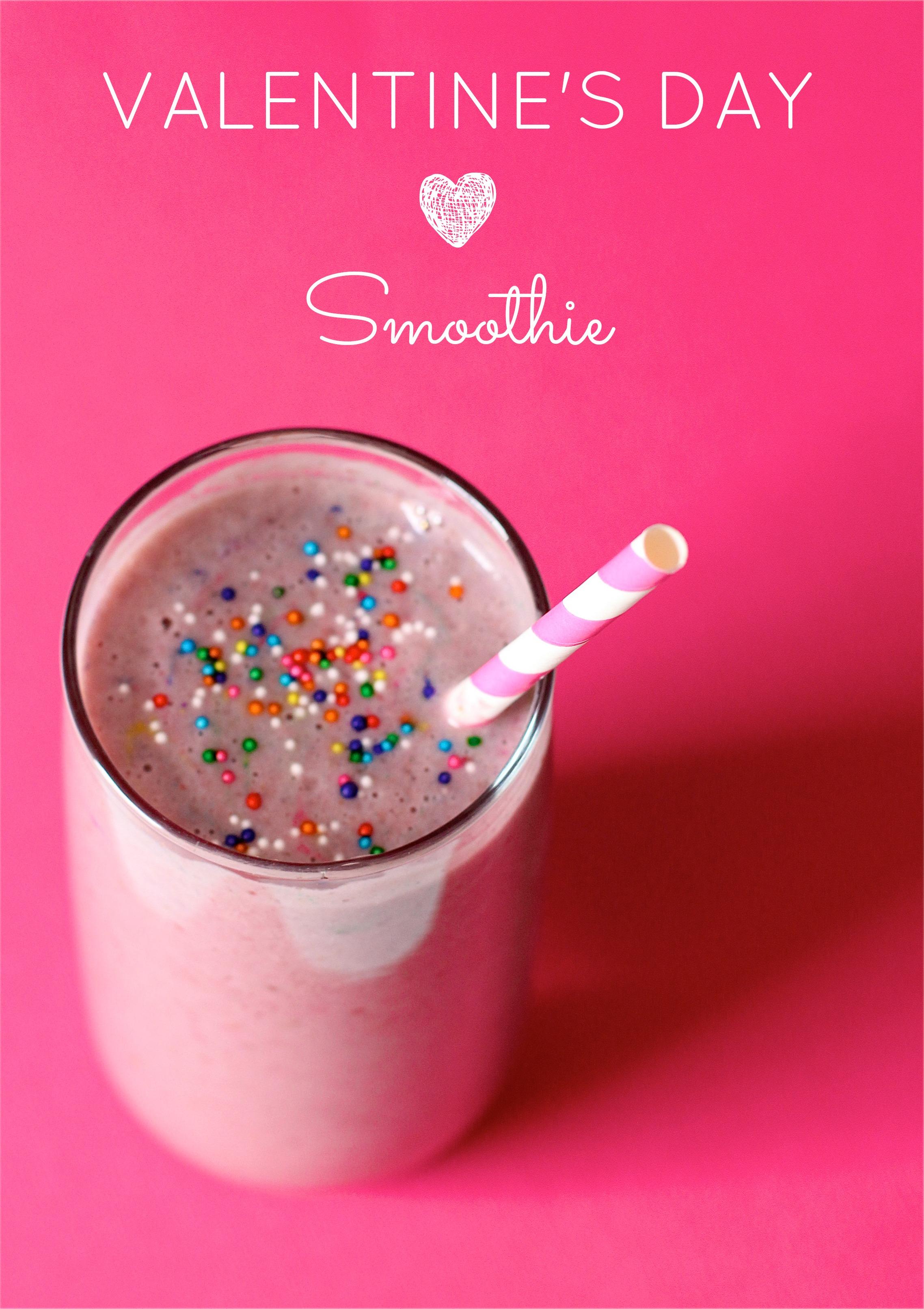 Yummy Valentine's Day Smoothie!