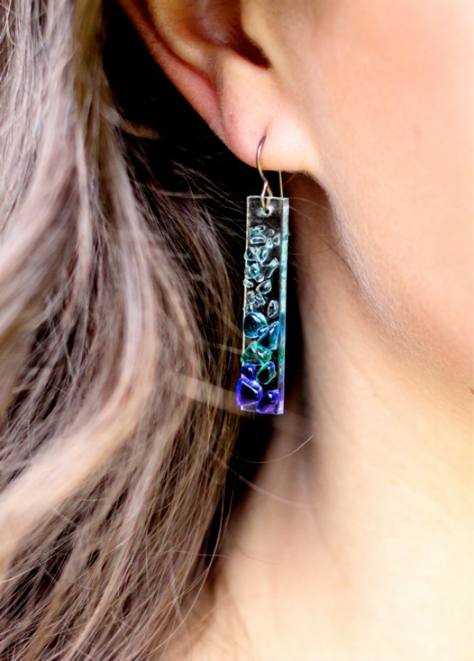 Shattered Glass Earrings | girl about columbus