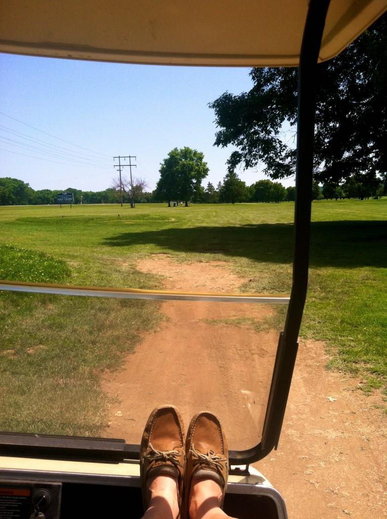 Golfing in my Sperrys
