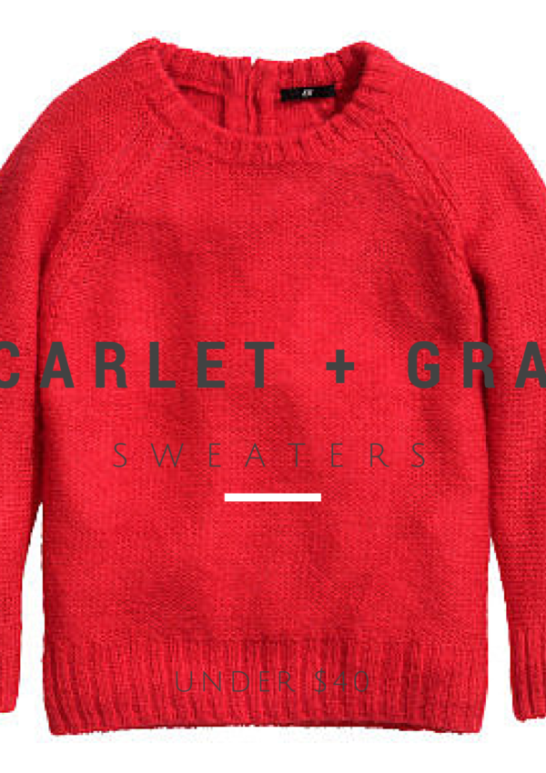 SCARLET + GRAY Sweaters