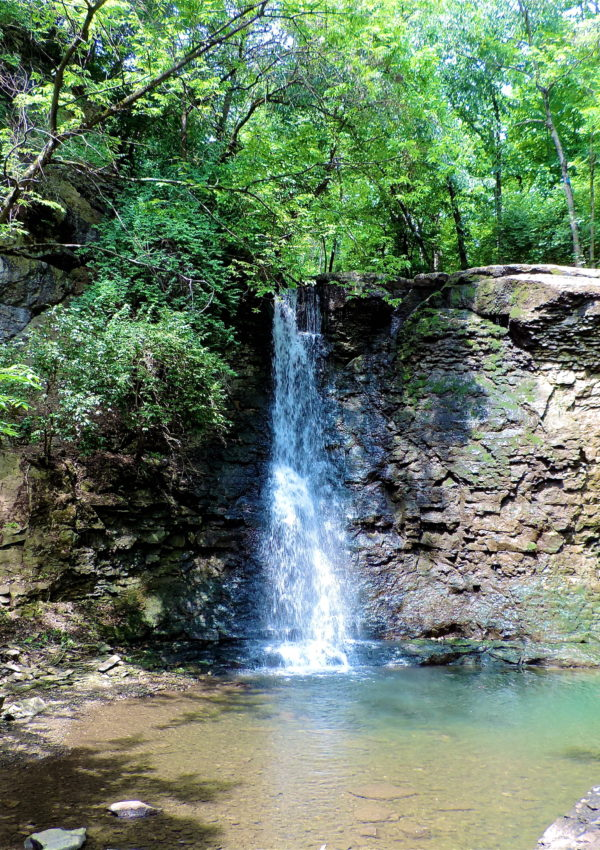 Hayden Run Falls in Dublin, Ohio | girl about columbus