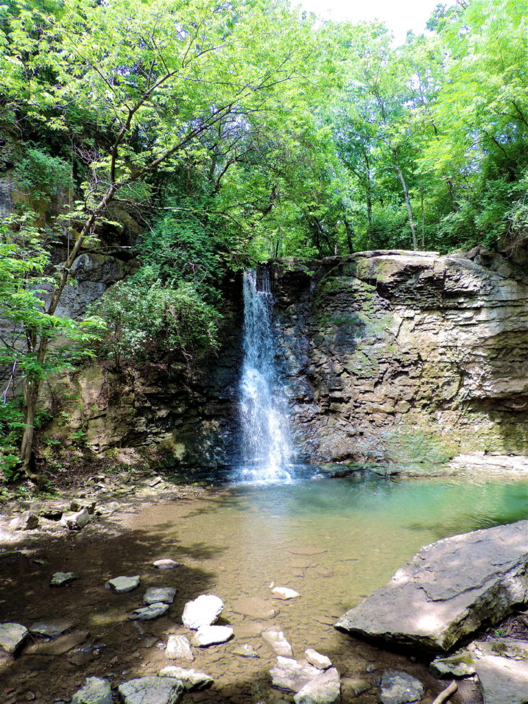 Hayden Run Falls in Dublin, Ohio | girl about columbus