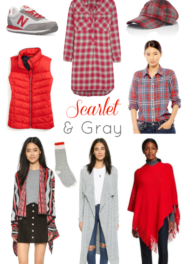 9 Scarlet + Gray Fall Fashion Finds
