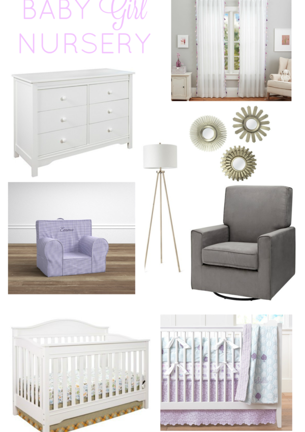 Third Trimester + Baby Girl Nursery Inspiration