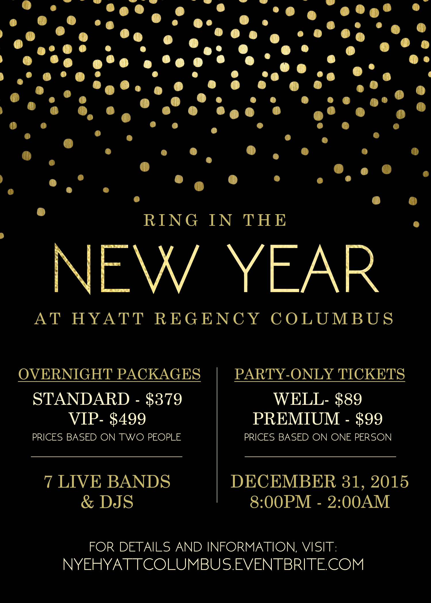NEW YEARS EVE HYATT 2016