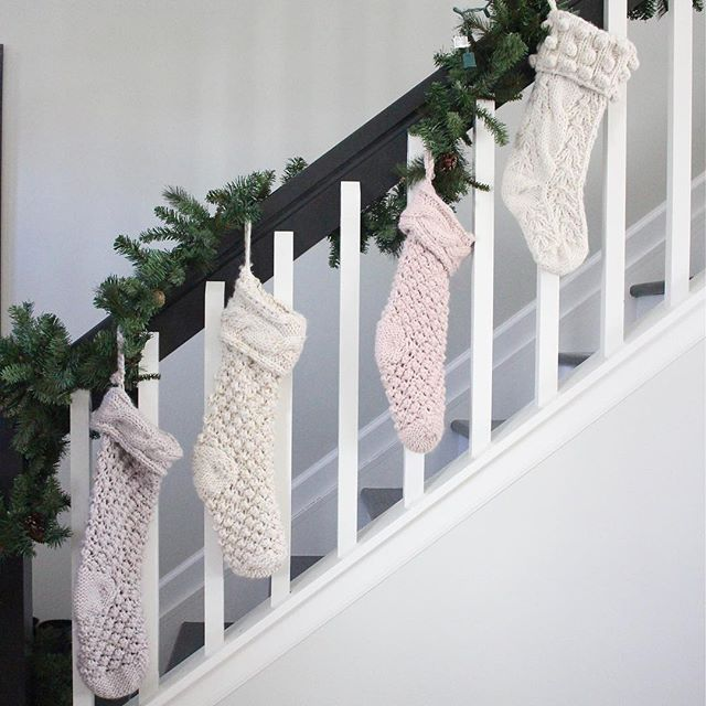 Christmas Stockings / girl about columbus