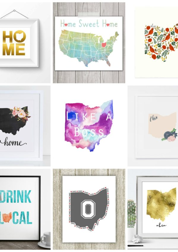 9 Pretty Ohio Art Prints | girl about columbus