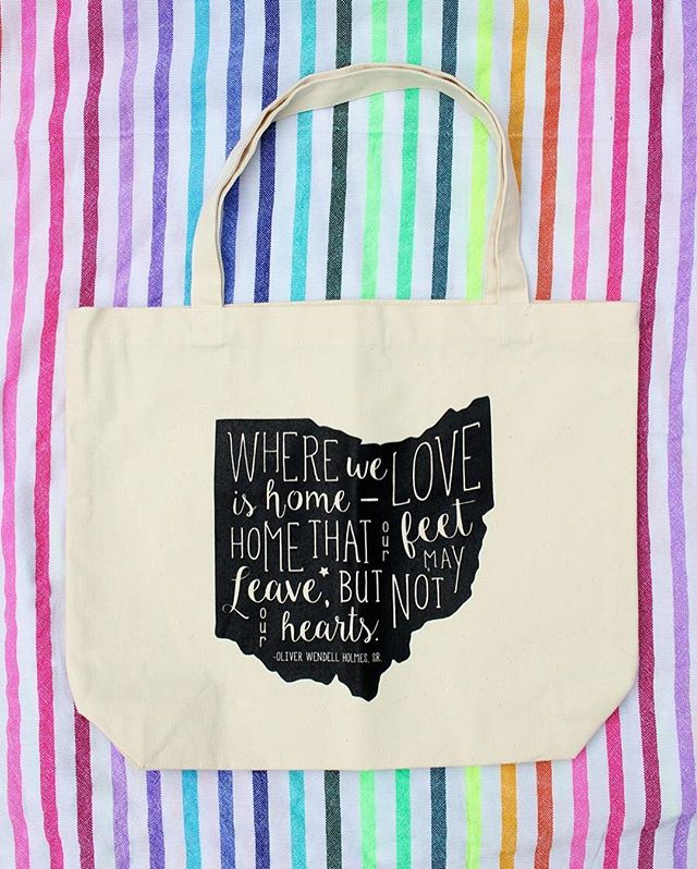 Invoke Thy Quote Ohio Bag // girl about columbus