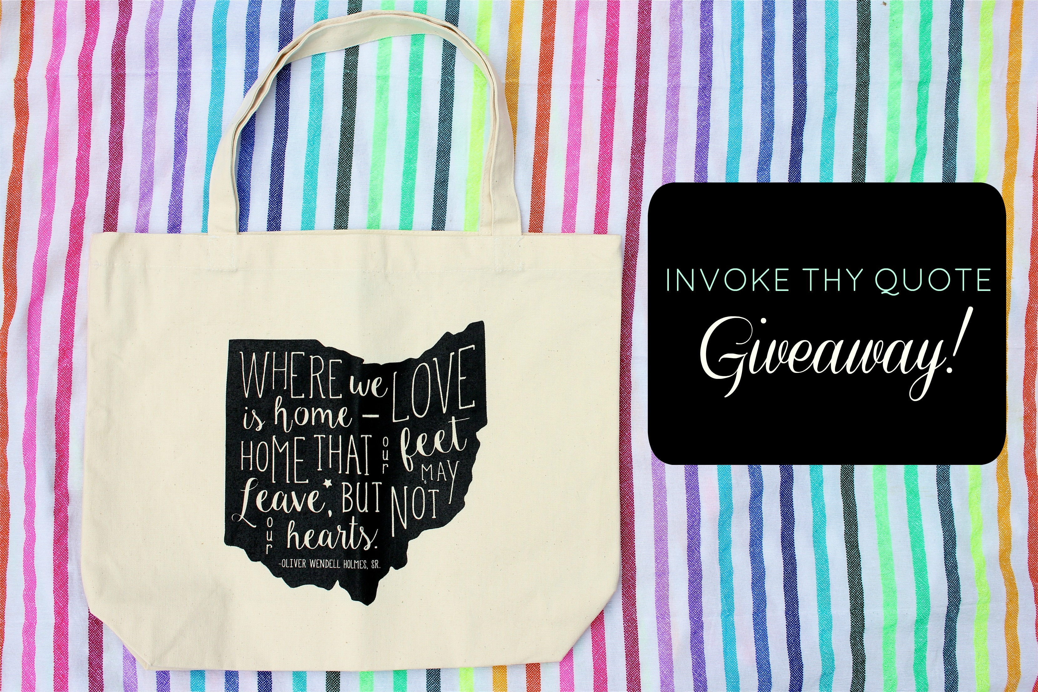 Invoke Thy Quote Giveaway // girl about columbus