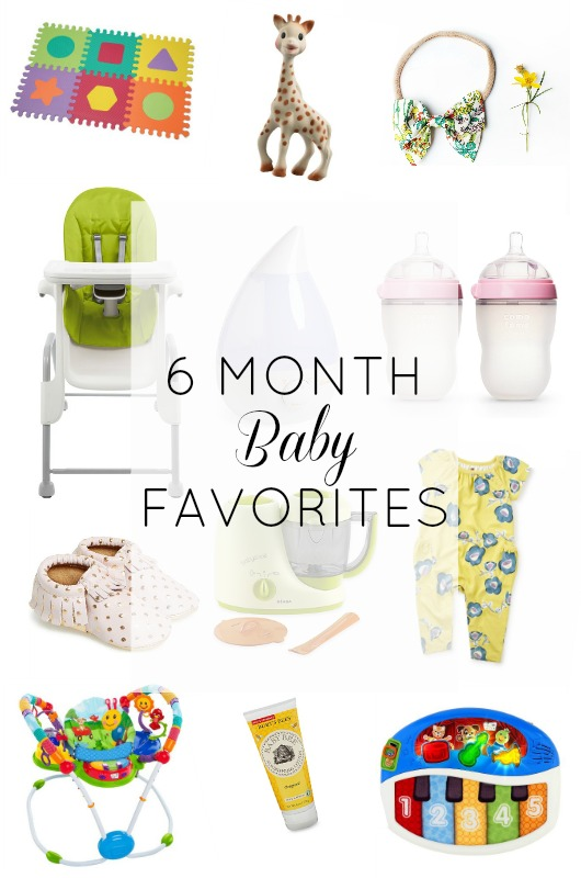 6 Month Baby Favorites // girl about columbus