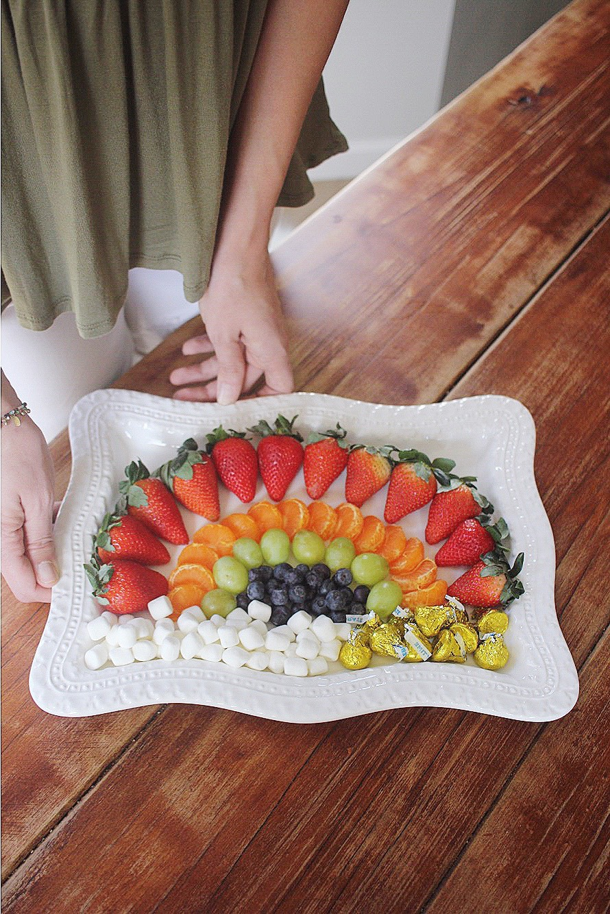 St. Patrick's Day Fruit Plate Idea