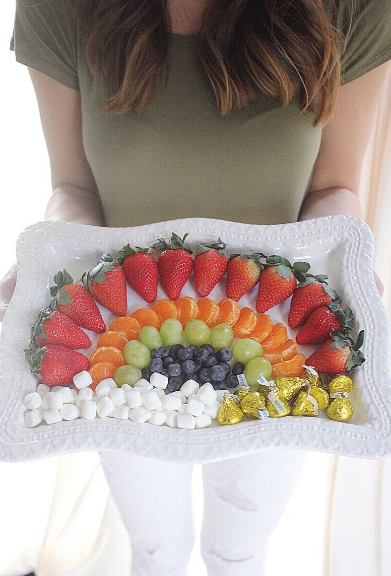 Rainbow Fruit Plate Idea