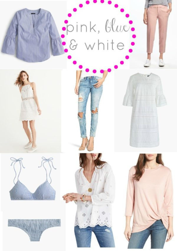 pink blue and white