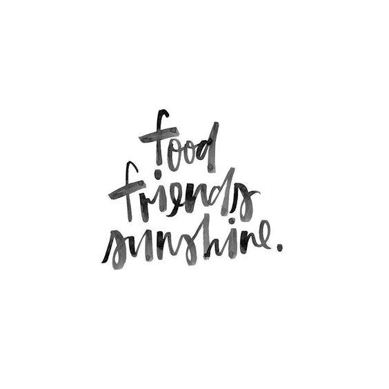food friends sunshine
