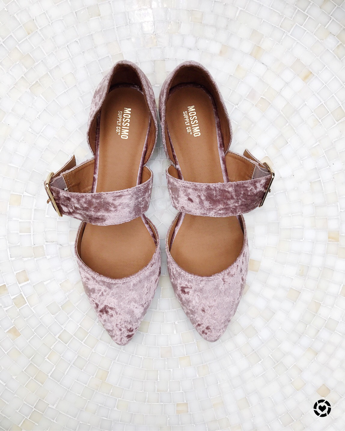 pink velvet shoes