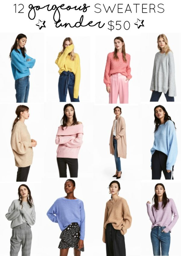 12 Gorgeous Sweaters Under $50 // girl about columbus