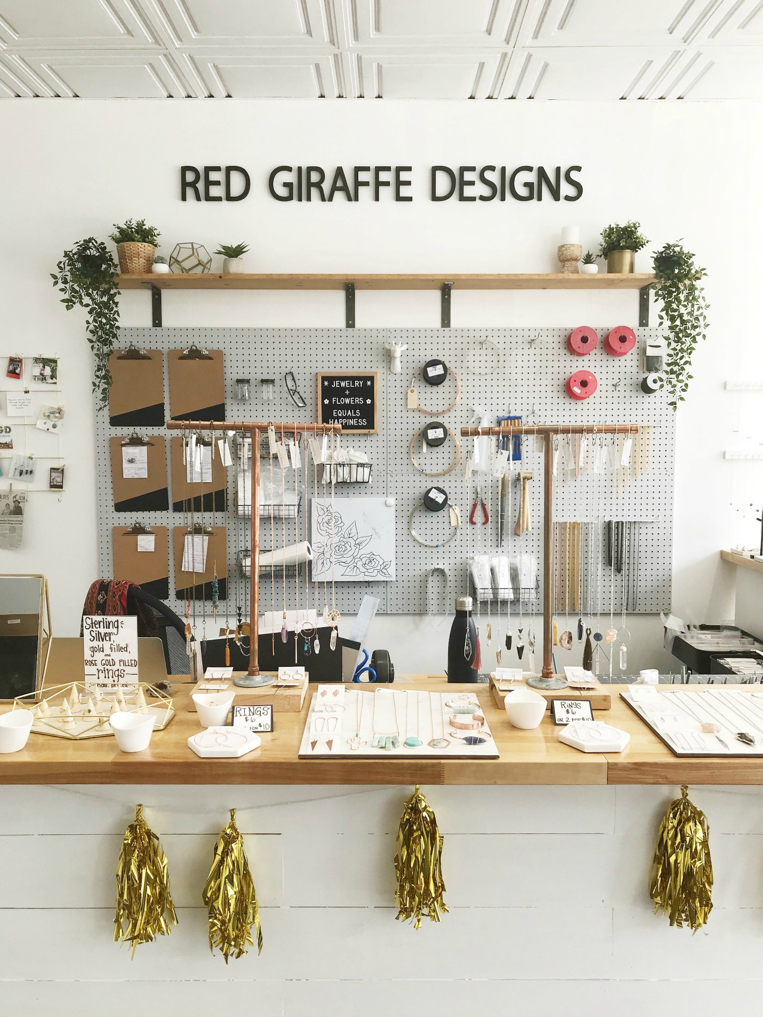 red giraffe designs german village