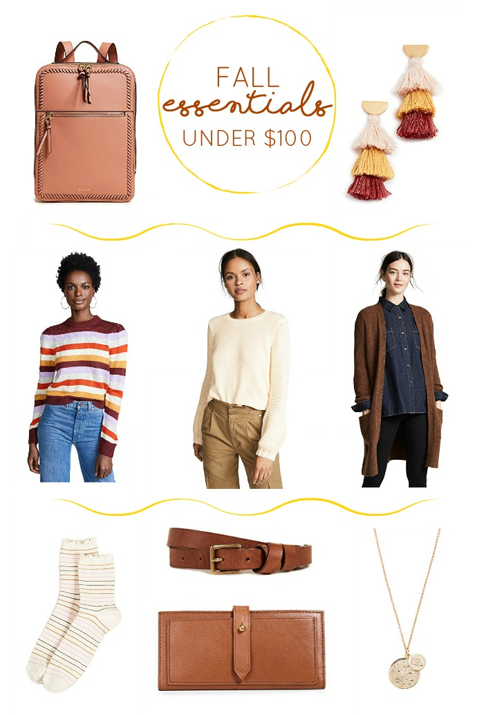 FALL essentials under $100