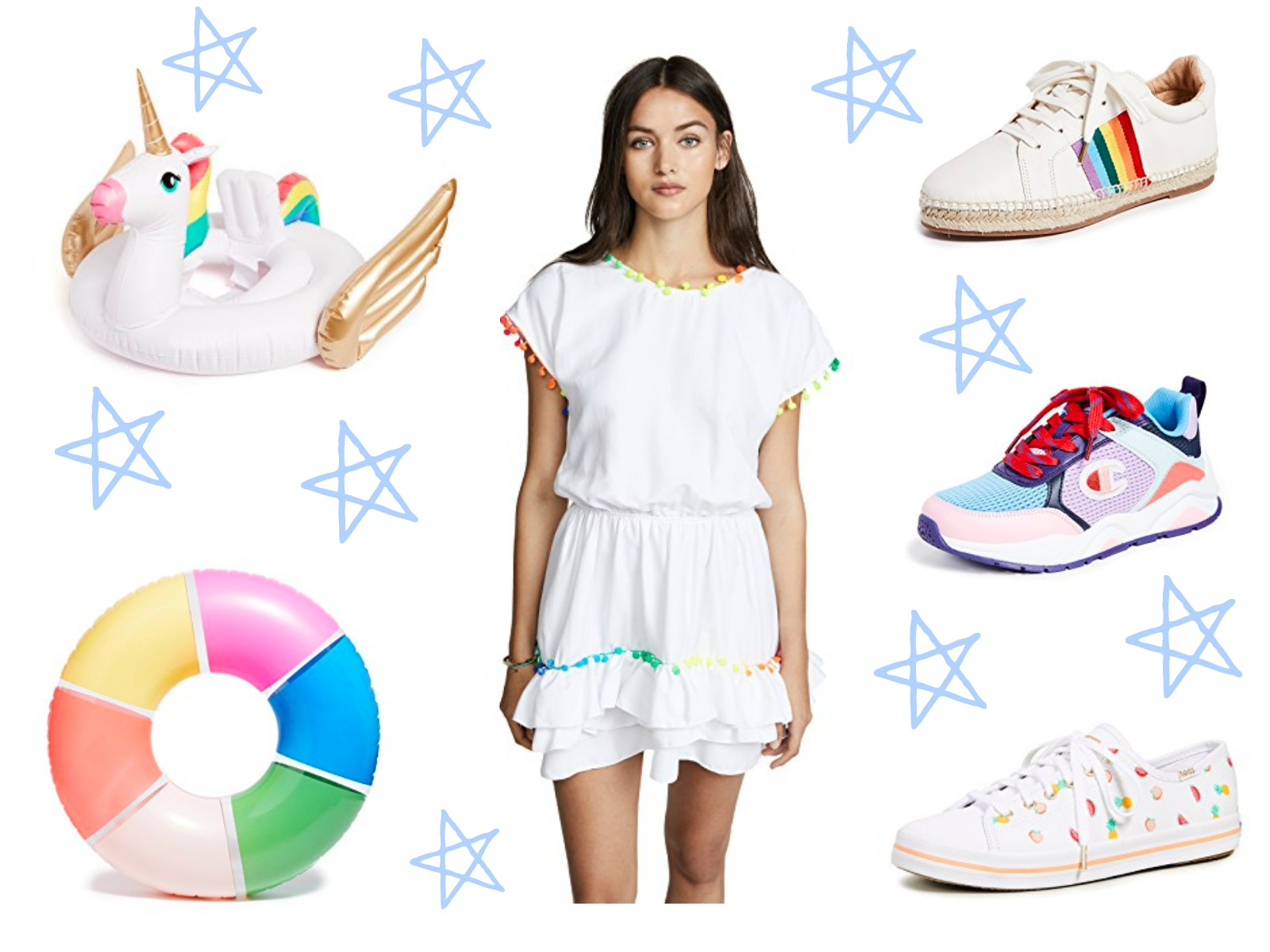 colorful items for spring