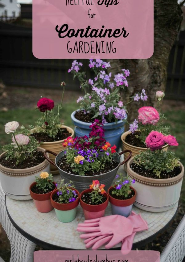 15 Helpful Tips for Successful Container Gardening