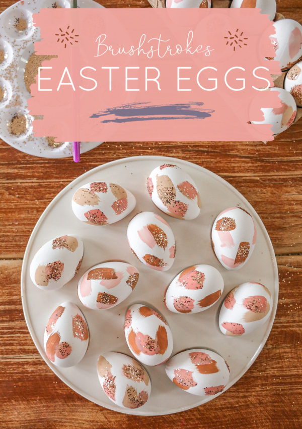 A Pretty Brushstrokes Easter Egg Decorating Idea