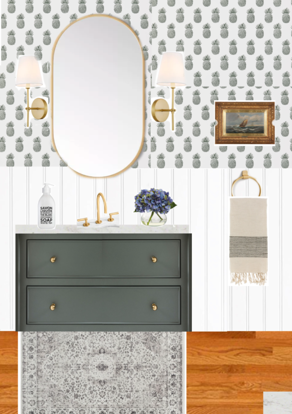 My Dream Guest Bathroom Design, Inspiration + Sources