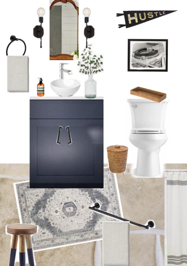 Our Basement Guest Bathroom Design Board + Sources
