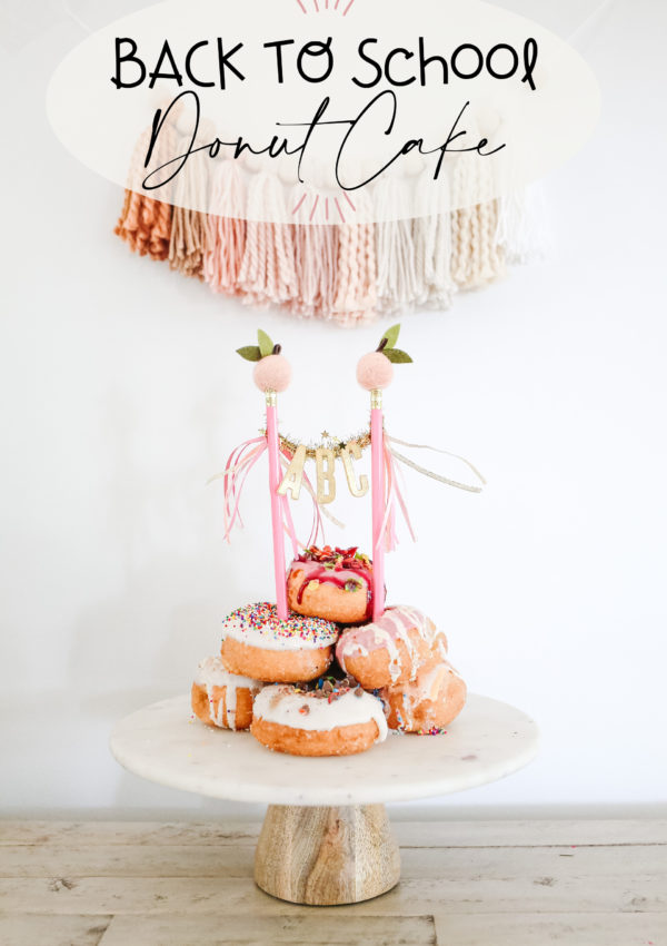 ☆ Back to School Donut Cake ☆