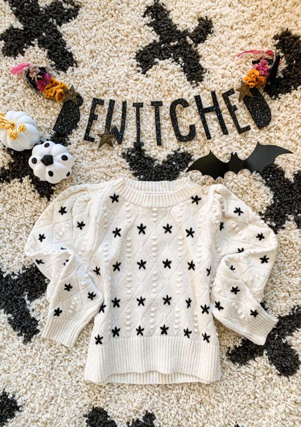 Black + White Stars Sweater