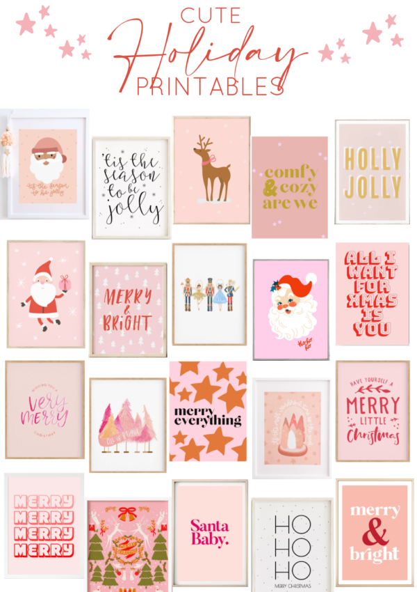 20 Cute Holiday Printables