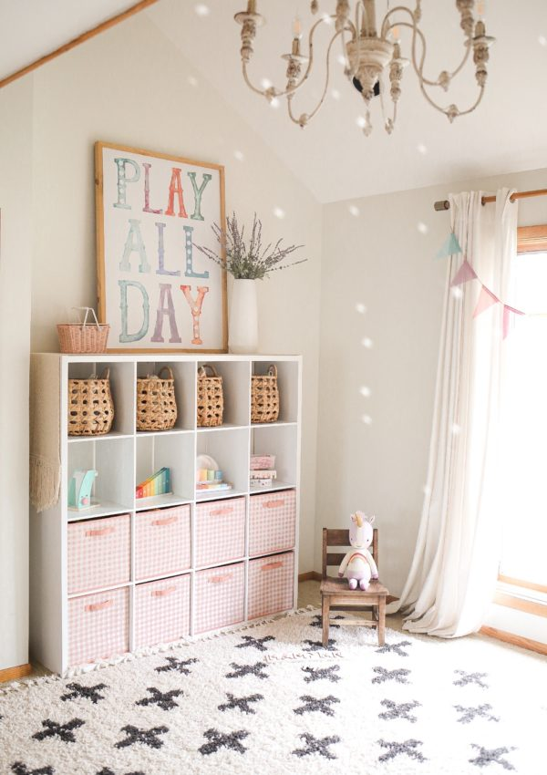 Our Neutral + Pastel Playroom + Sources