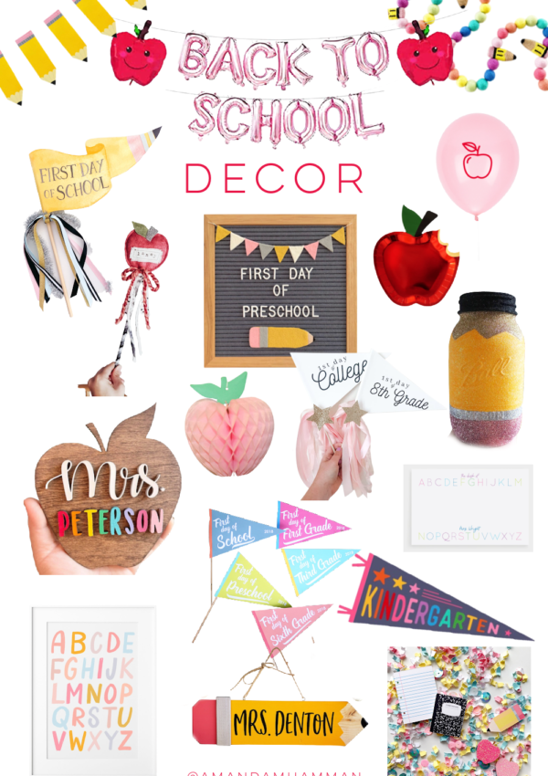 The Cutest Back to School Decor