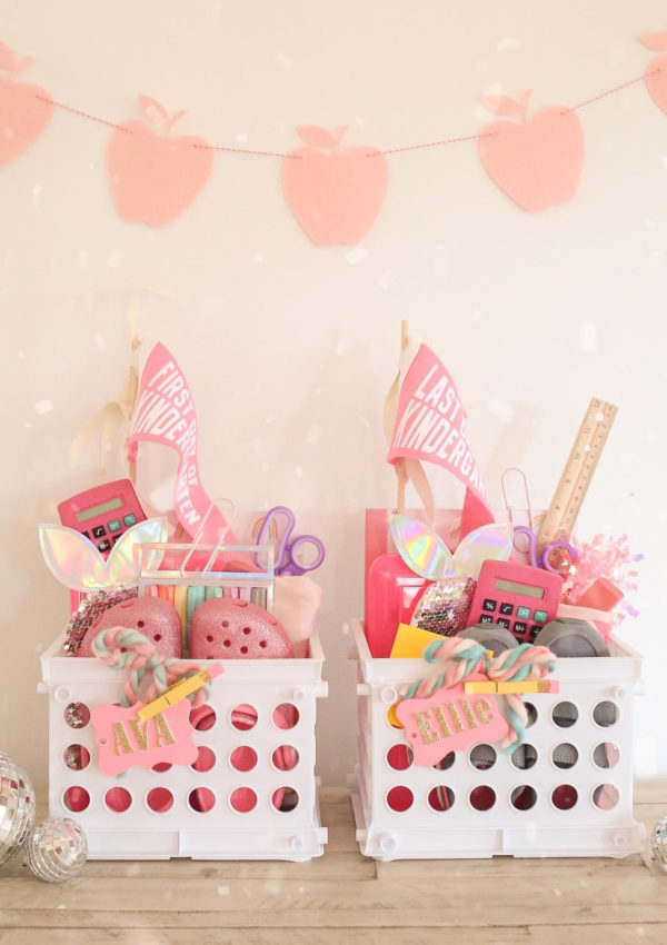 How to Make Back to School Baskets