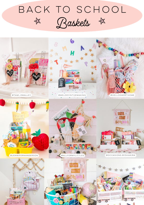 Adorable Back to School Baskets!